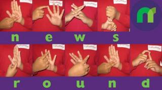Newsround spelt in sign language