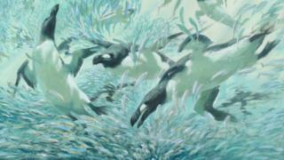 A painting called Great Auk by Bruce Pearson