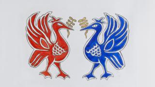 A painting called Liver Birds by Holly Johnson