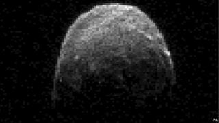 pixellated image of asteroid