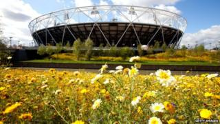 Meadow in front of Olympic Stadium