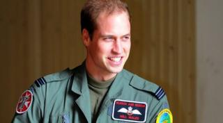 Prince william in military overalls