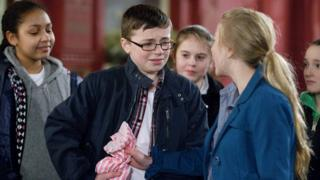 scene from Eastenders with boy being bullied