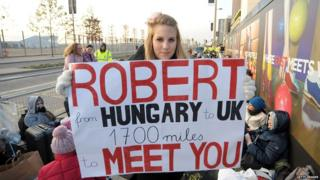 UK premiere of The Twilight Saga: Breaking Dawn - Part 1 - Robert Pattinson fan from Hungary