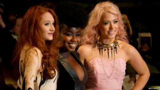 UK premiere of The Twilight Saga: Breaking Dawn - Part 1 - Janet Devlin, Misha B and Amelia Lily from The X Factor