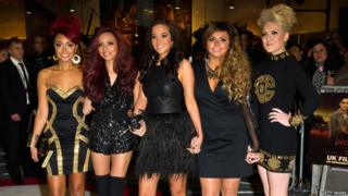 UK premiere of The Twilight Saga: Breaking Dawn - Part 1 - The X Factor's Tulisa with her band Little Mix