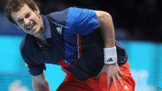 Andy Murray grimaces during his match
