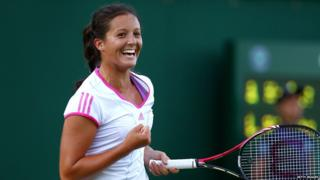 Laura Robson playing tennis