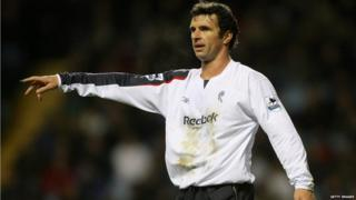 Gary Speed playing for Bolton