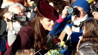 Duchess of Cambridge meeting crowds