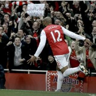 The crowd went crazy when Henry scored!