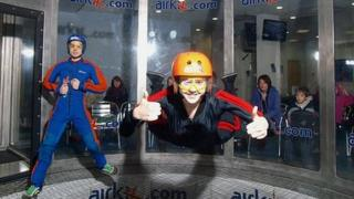 Sian Spence indoor skydiving