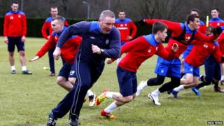 Ally McCoist and Rangers players running