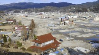 The city of Kesennuma cleared of rubble.