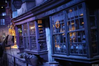 Diagon Alley at the Harry Potter studio tour.