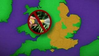 The areas in England affected by a hosepipe ban from 5 April