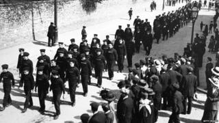 A memorial service in Southampton for the victims of the Titanic sinking