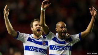 Reading celebrating promotion