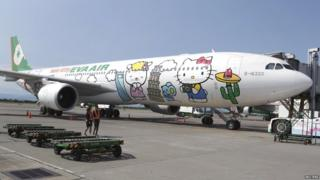 Hello Kitty themed aeroplane