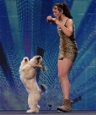 Ashleigh and Pudsey performing on BGT
