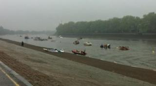 Boats in River Thames