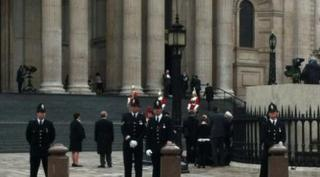 Police outside St. Paul's Cathedral
