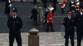 Prince Charles, Harry and Duchess of Cornwall arrive