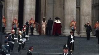 William and Kate walking in cathedral