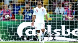 Ashley Cole looking dejected