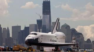 Space Shuttle on a boat in New York
