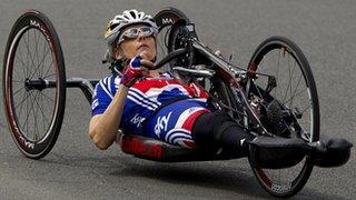 British cyclist Karen Darke