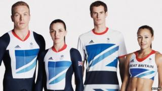 A selection of athletes from Team GB.