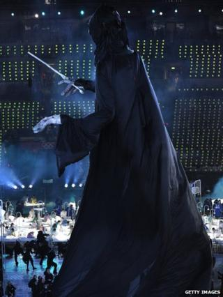 A puppet of Lord Voldemort appeared at the opening ceremony.