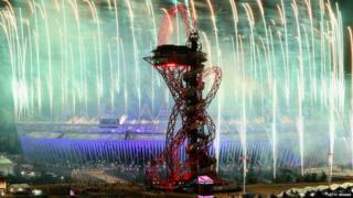 Olympic fireworks.