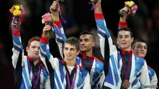 Men's gymnastics team win bronze