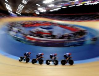 Great Britain won their heat in the team pursuit.