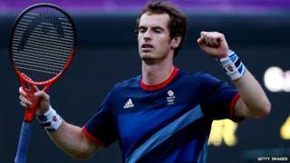 Andy Murray celebrates win against Djokovic