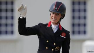 Charlotte Dujardin wins second dressage gold.