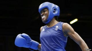 Nicola Adams wins the women's boxing event.