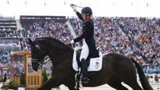 Charlotte Dujardin claimed her second gold of the games in the individual dressage competition.