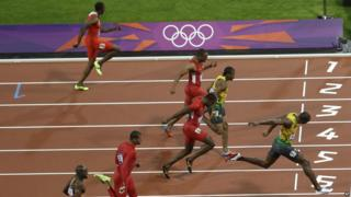 Usain Bolt at the London 2012 Olympics.