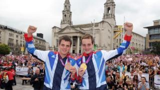 The Brownlee brothers in Leeds