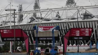 Olympic stadium getting ready for Paralympic games