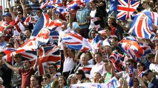 GB fans cheer on competing athletes