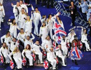 Athletes from ParalympicGB got the biggest cheer of the night