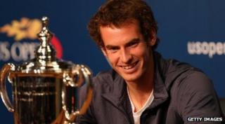 Andy Murray and his US Open cup.