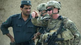 Afghan and Nato troops