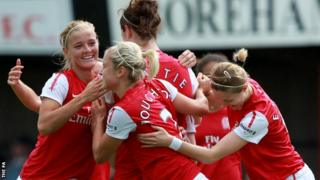 Arsenal winning their ninth Women's Super League title