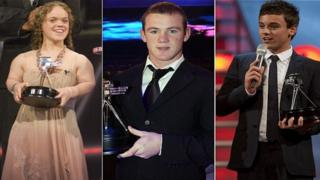 Ellie Simmonds, Wayne Rooney and Tom Daley