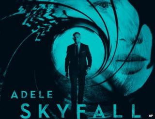 Poster for Adele's song Skyfall